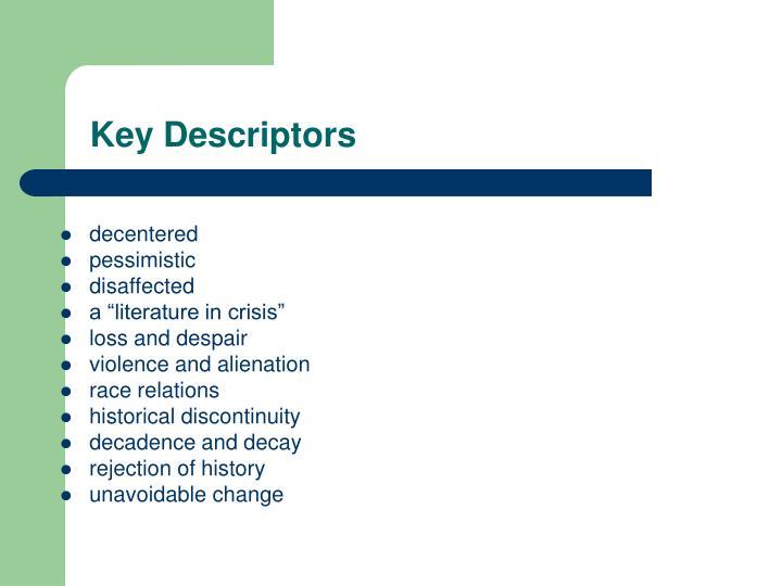 Key Descriptors