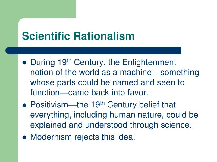 Scientific Rationalism