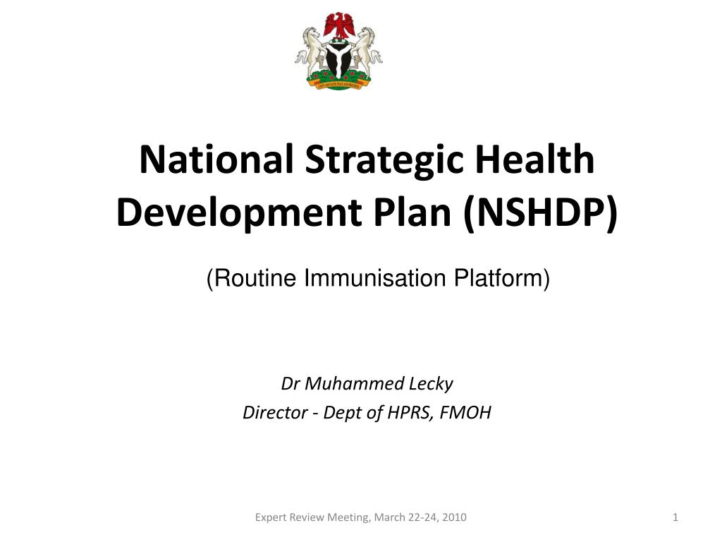 National Strategic Health Development Plan (NSHDP)