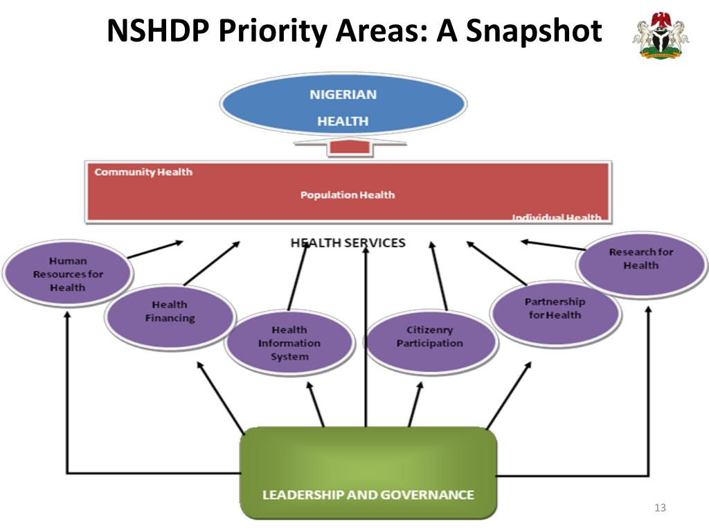 NSHDP Priority Areas: A Snapshot