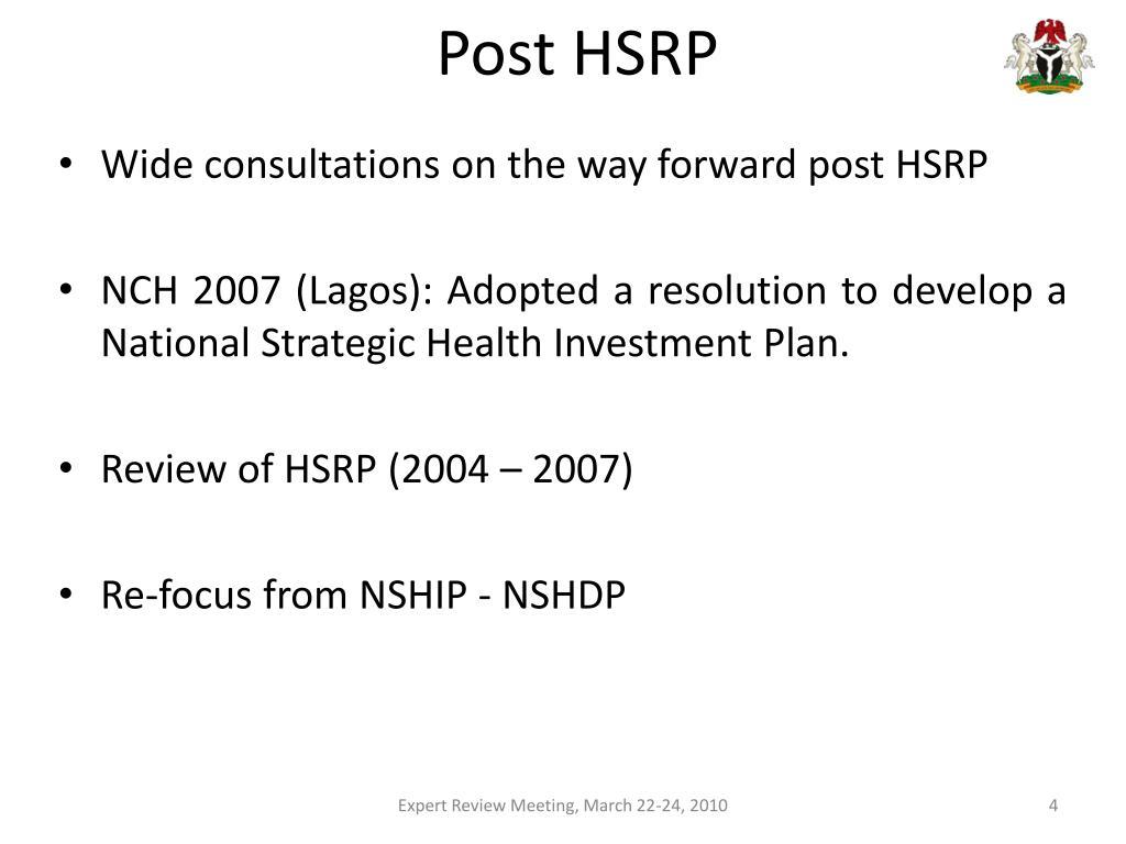 Post HSRP