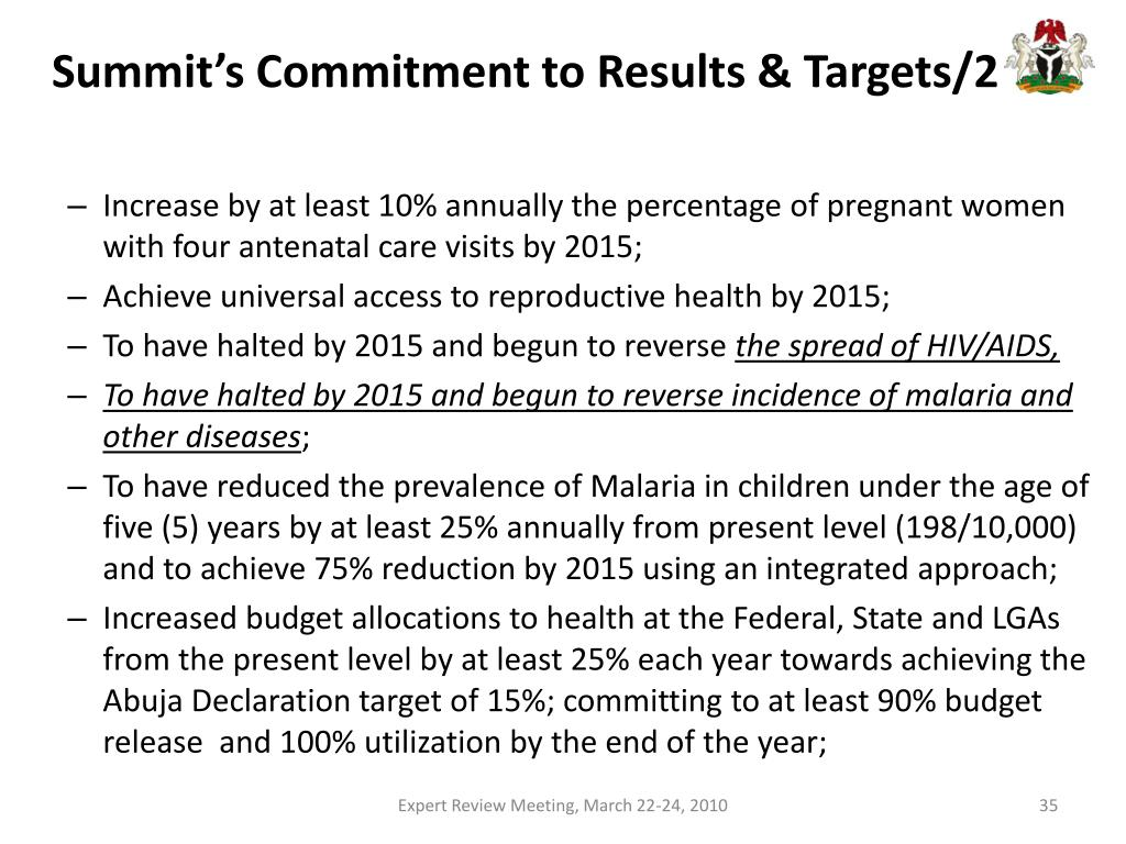 Summit's Commitment to Results & Targets/2