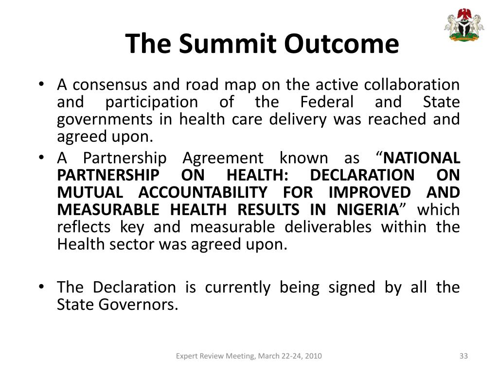The Summit Outcome