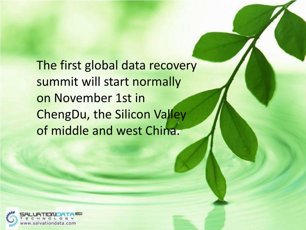 The first global data recovery summit will start normally on November 1st in