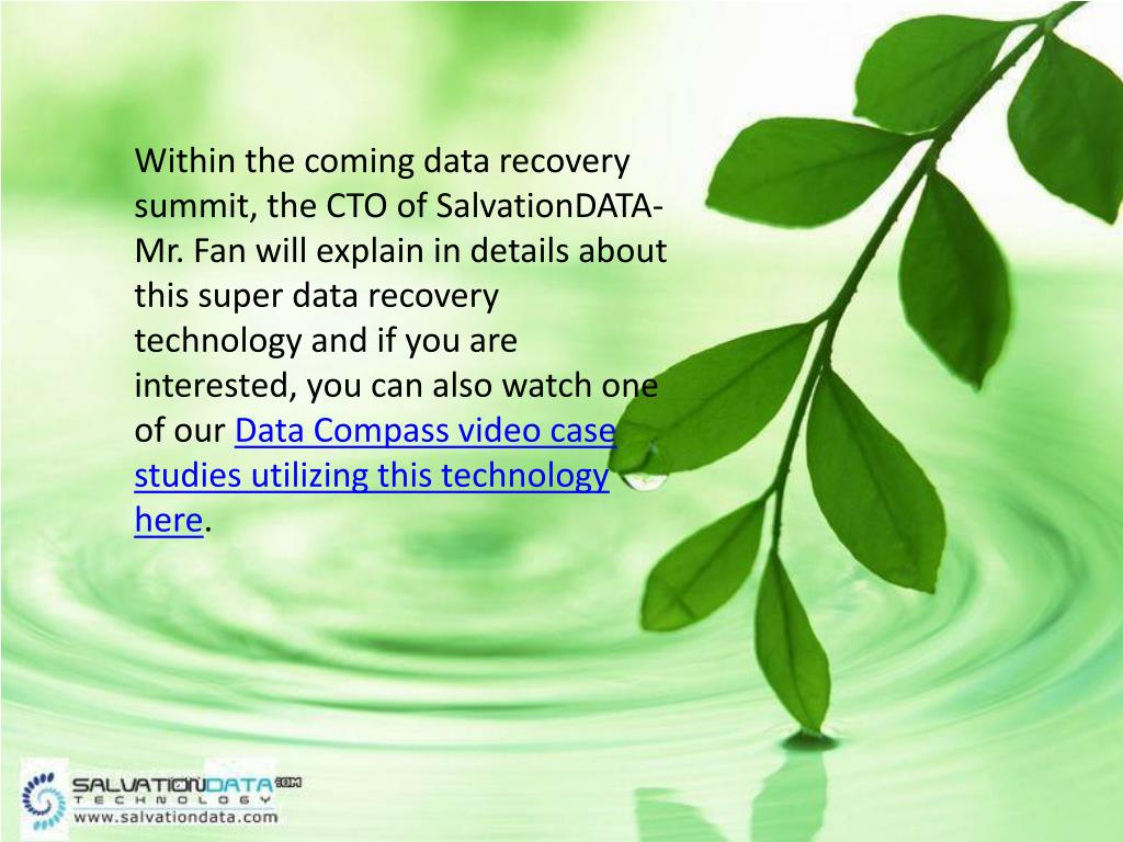 Within the coming data recovery summit, the CTO of SalvationDATA-Mr. Fan will explain in details about this super data recovery technology and if you are interested, you can also watch one of our