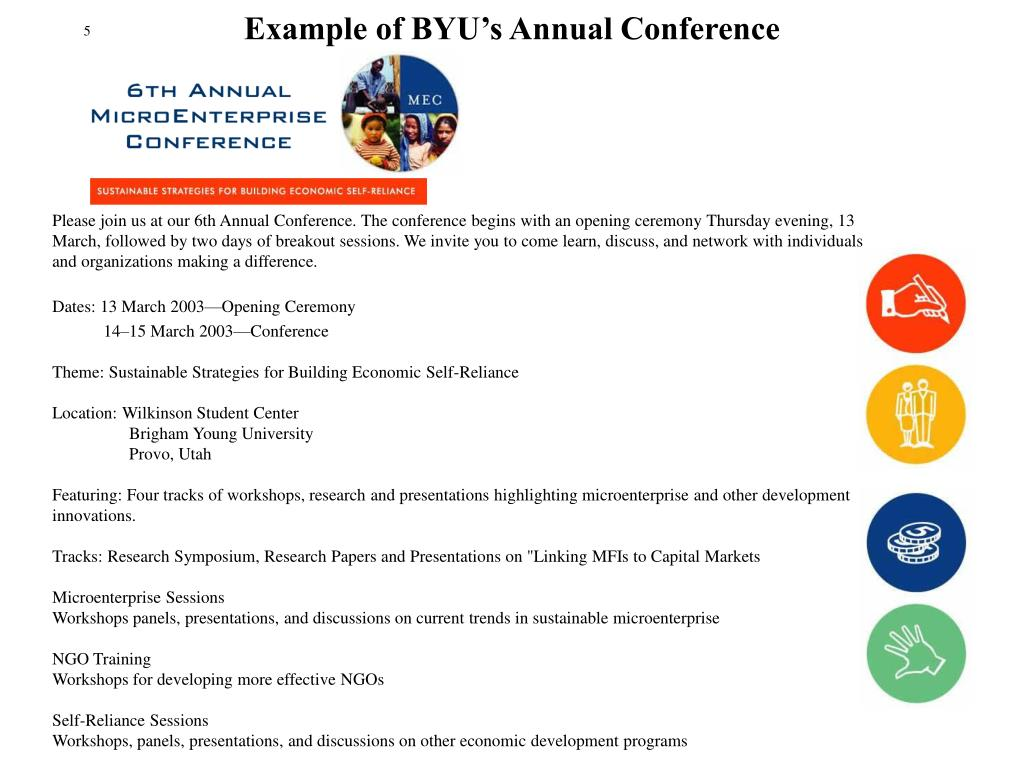 Example of BYU's Annual Conference