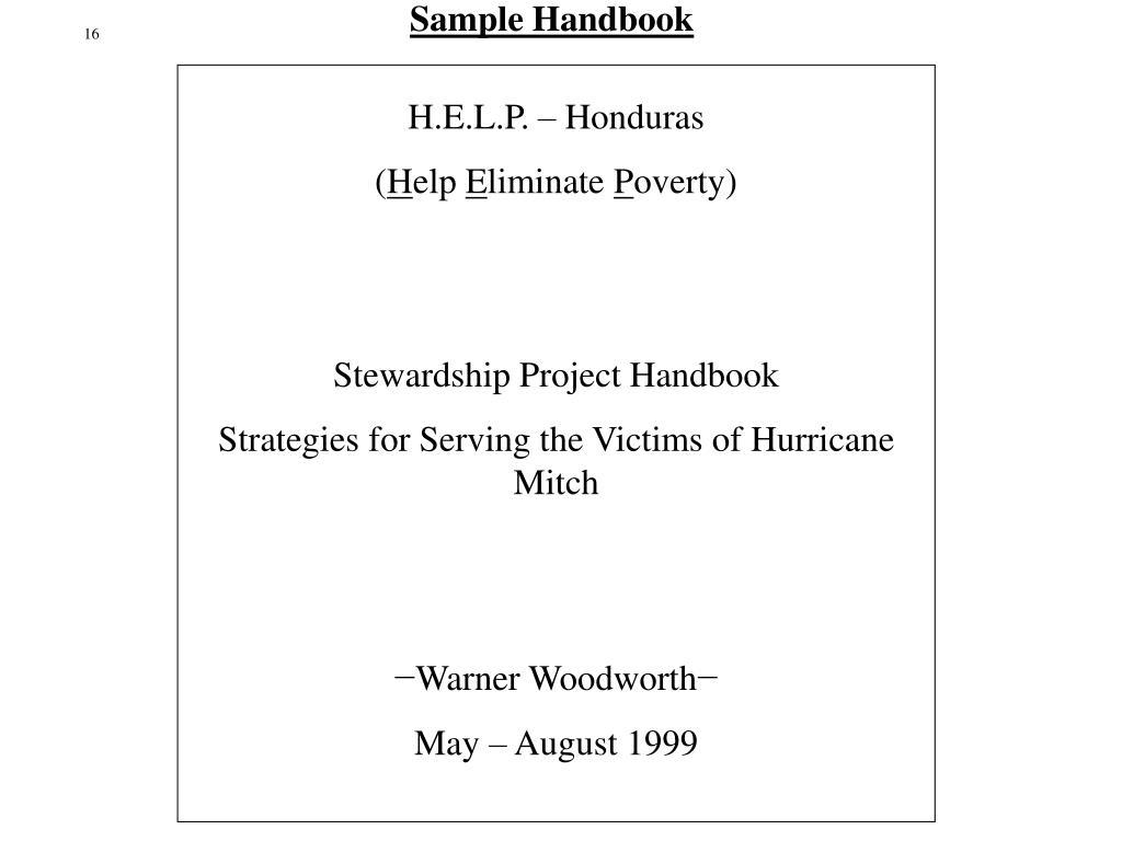 Sample Handbook