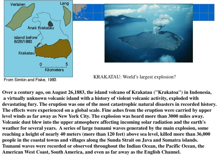 KRAKATAU: World's largest explosion?