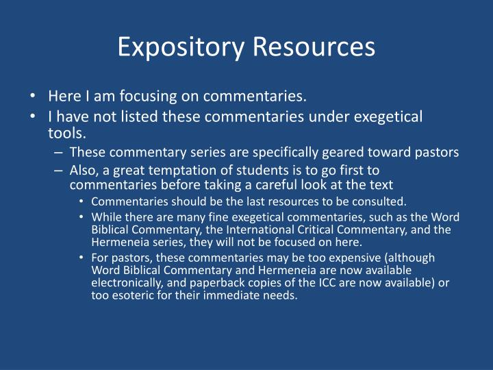 Expository Resources