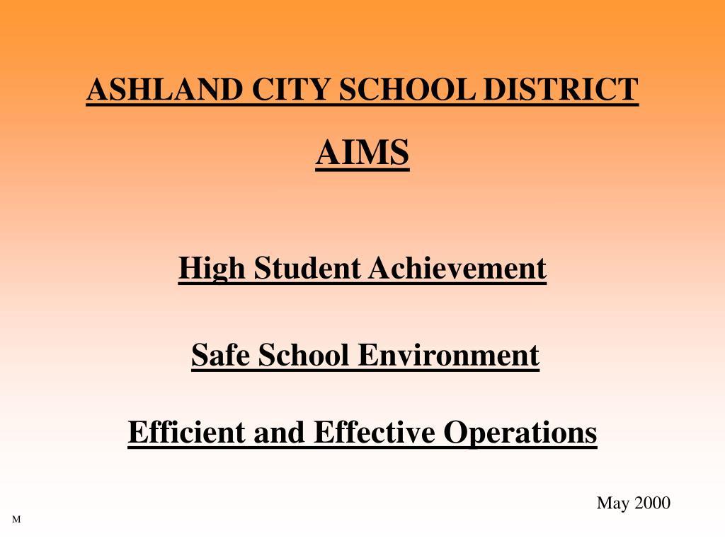 ASHLAND CITY SCHOOL DISTRICT