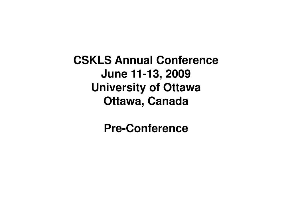 CSKLS Annual Conference