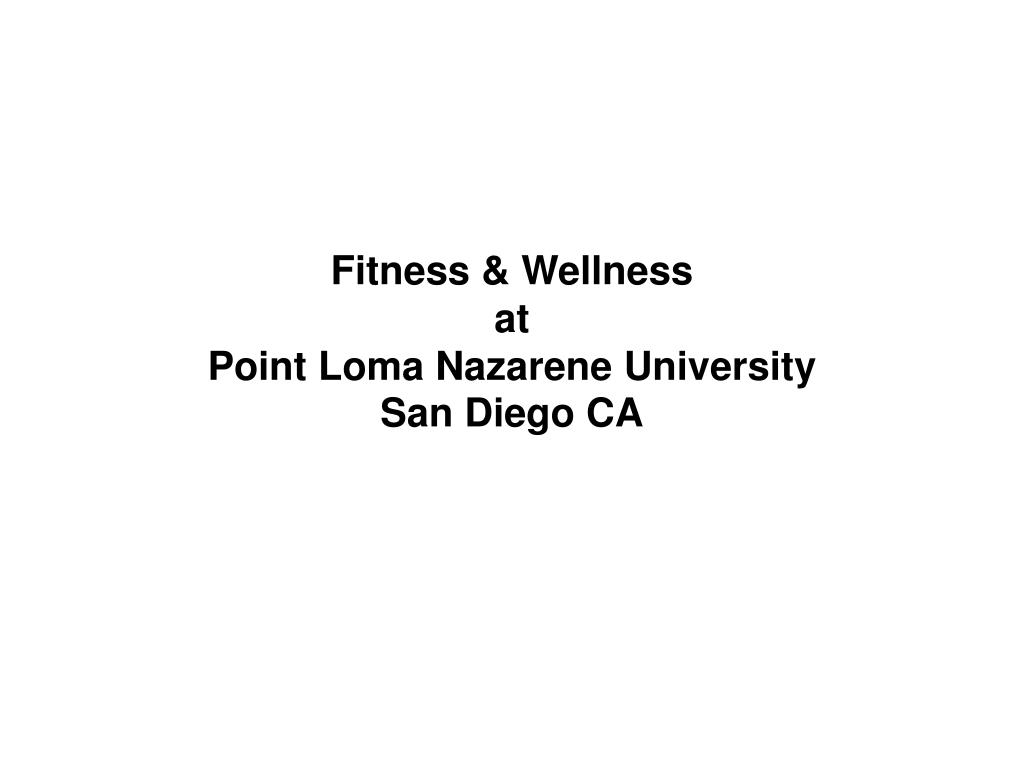 Fitness & Wellness