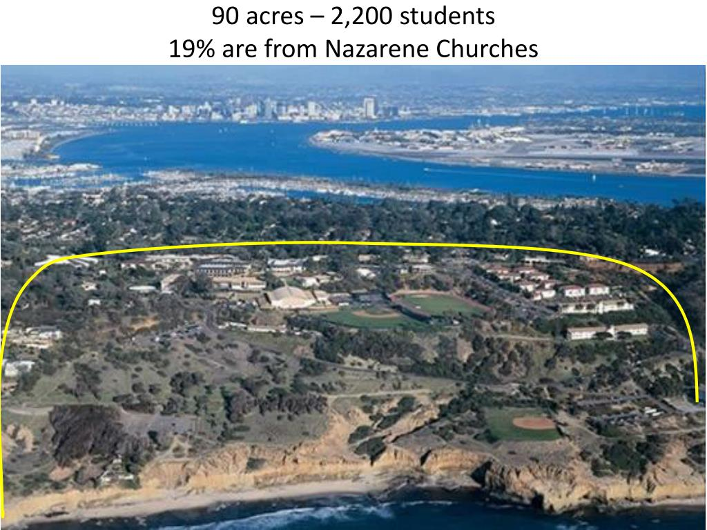 90 acres – 2,200 students
