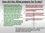 how did the allies prepare for d day