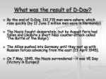 what was the result of d day