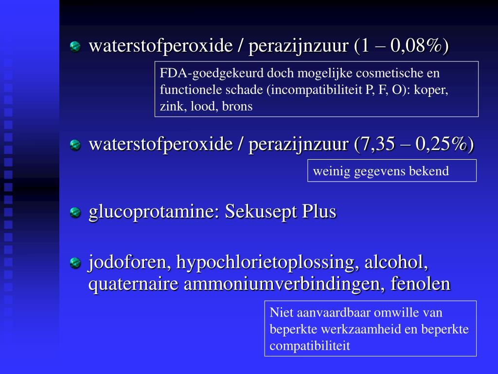 FDA-goedgekeurd doch mogelijke cosmetische en functionele schade (incompatibiliteit P, F, O): koper, zink, lood, brons