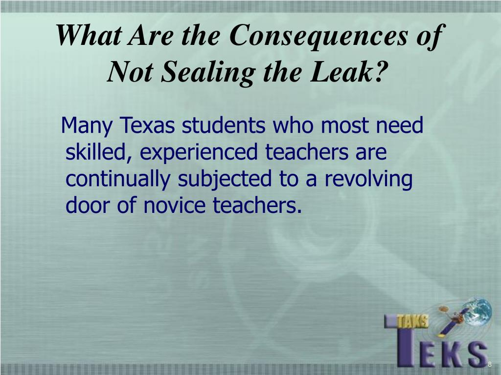 What Are the Consequences of Not Sealing the Leak?