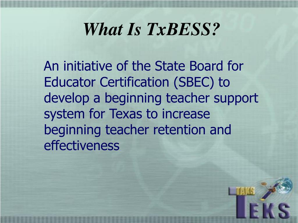What Is TxBESS?