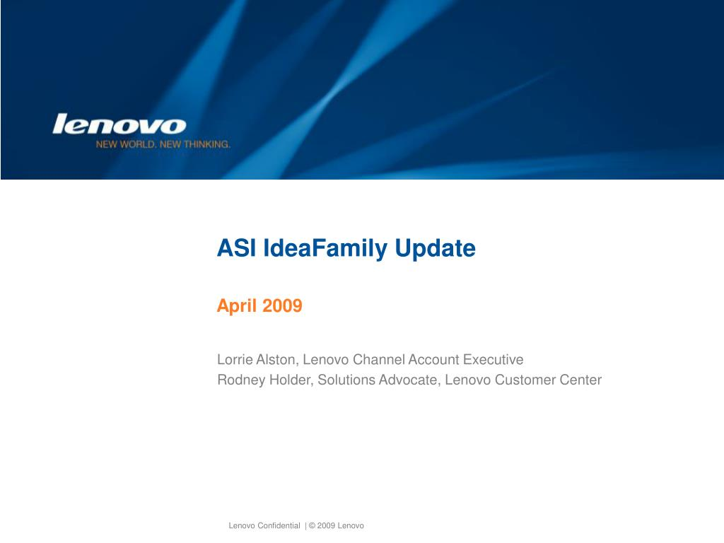 ASI IdeaFamily Update