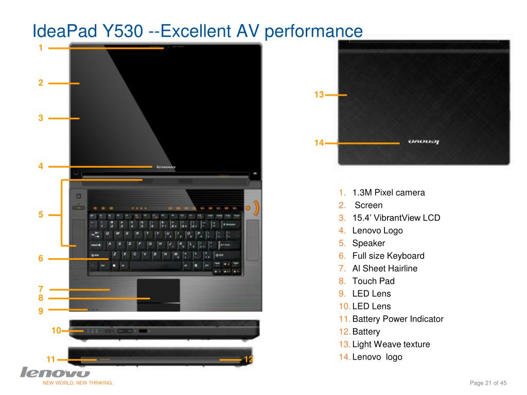 IdeaPad Y530 --Excellent AV performance