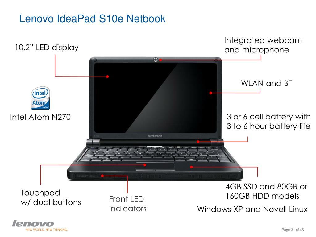 Lenovo IdeaPad S10e Netbook