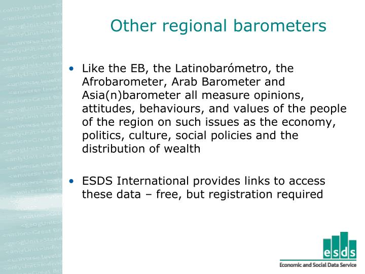Other regional barometers