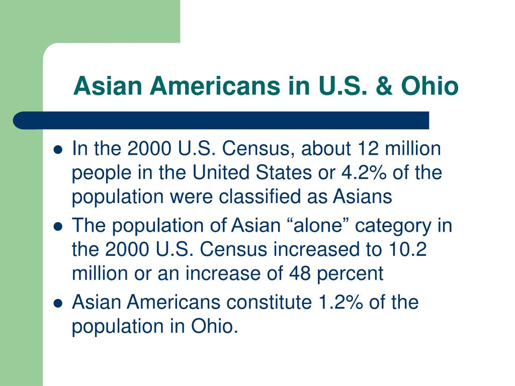 Asian Americans in U.S. & Ohio