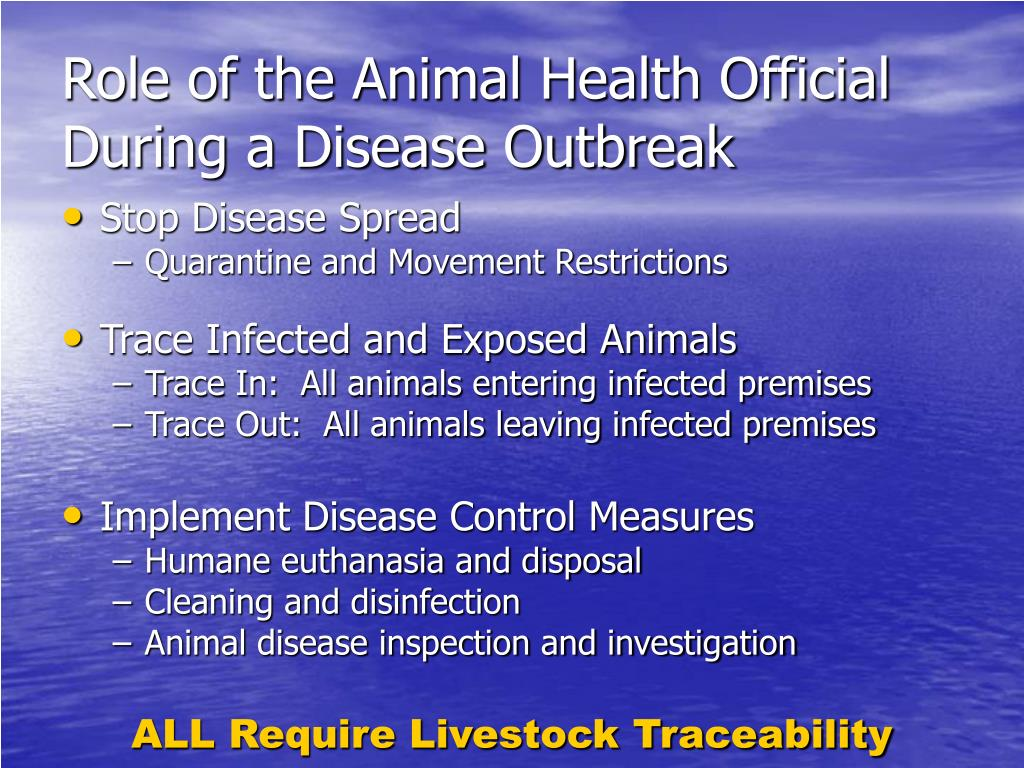 Role of the Animal Health Official