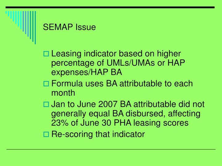 SEMAP Issue