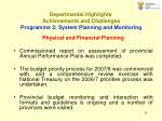 departmental highlights achievements and challenges p rogramme 2 system planning and monitoring25