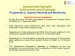 departmental highlights achievements and challenges p rogramme 2 system planning and monitoring31