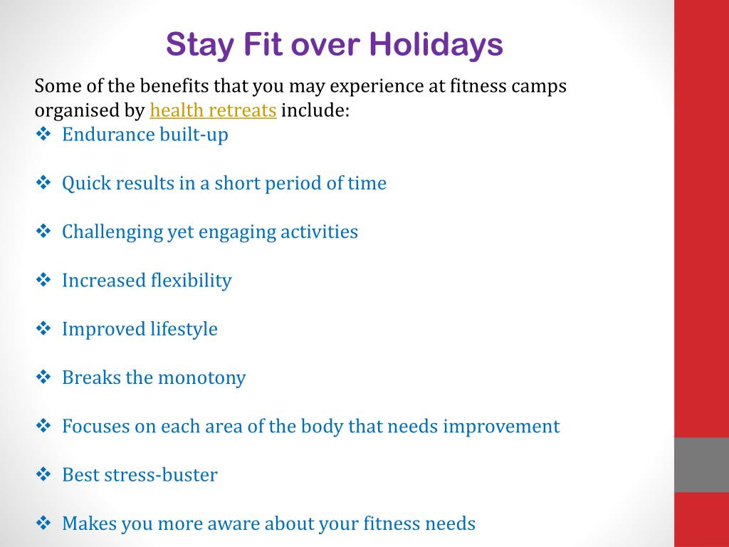 Stay Fit over Holidays