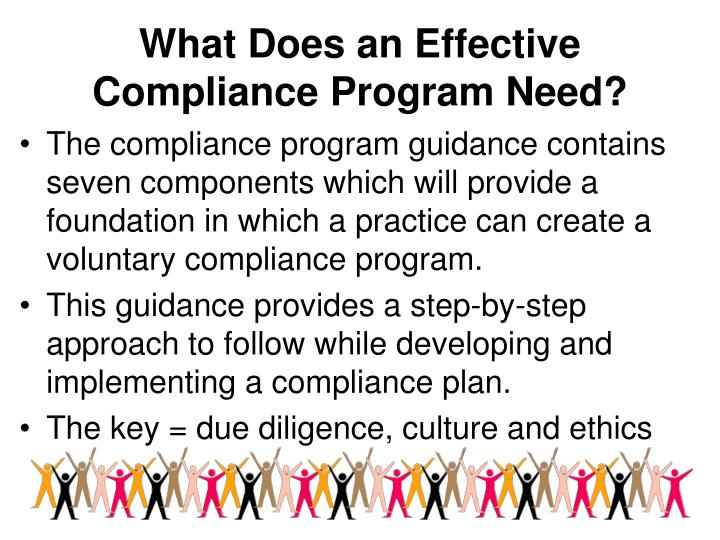 What Does an Effective Compliance Program Need?