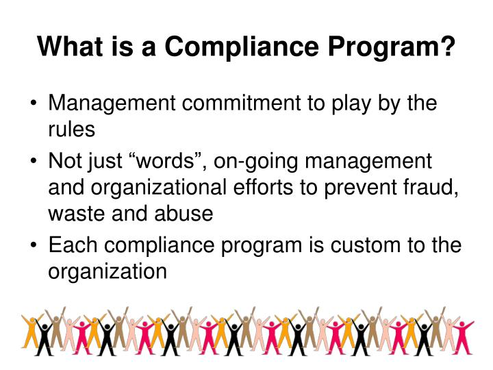 What is a compliance program