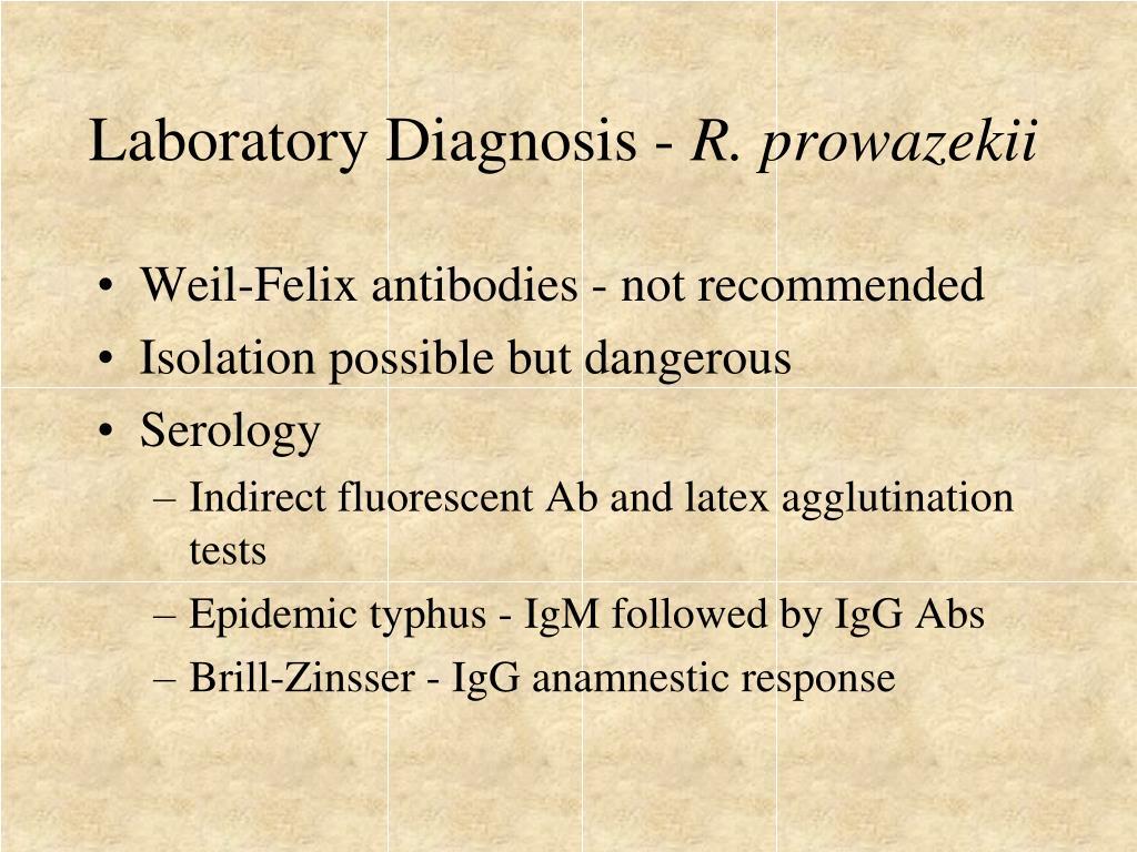 Laboratory Diagnosis -