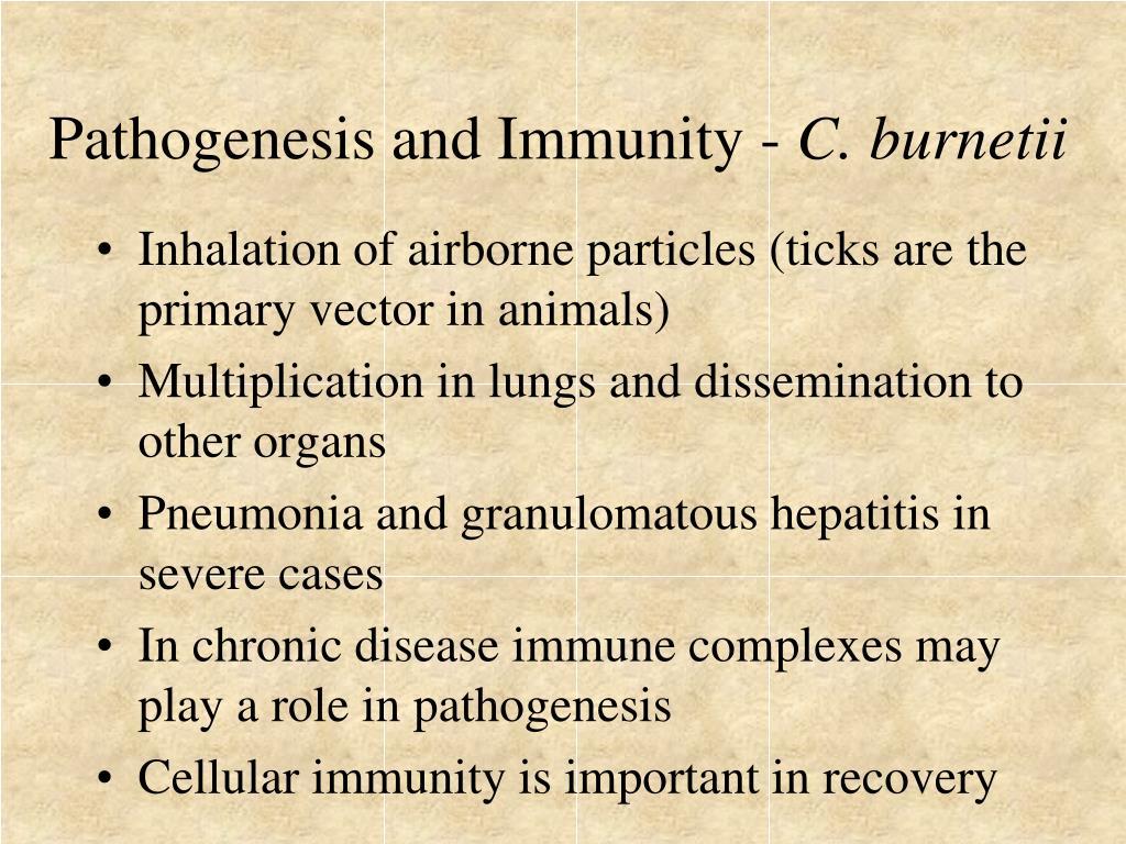 Pathogenesis and Immunity -