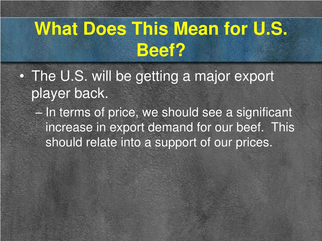 What Does This Mean for U.S. Beef?