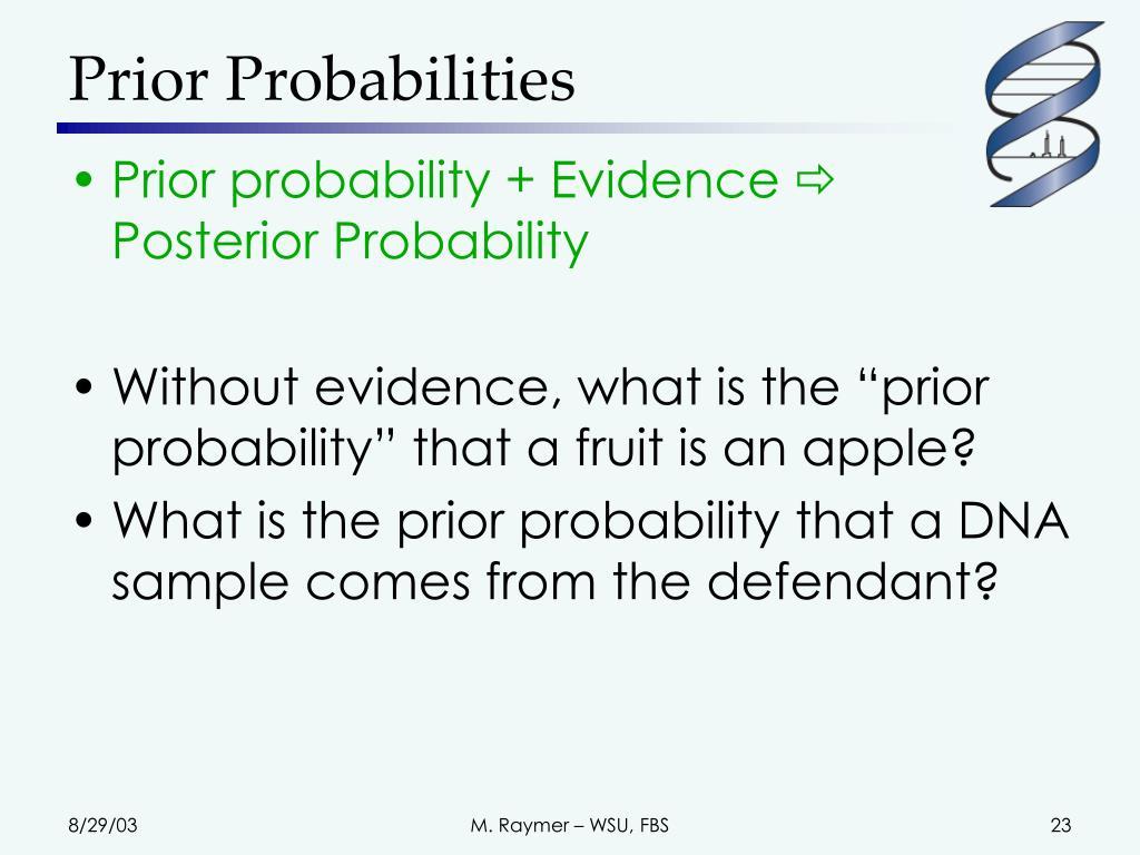 Prior Probabilities