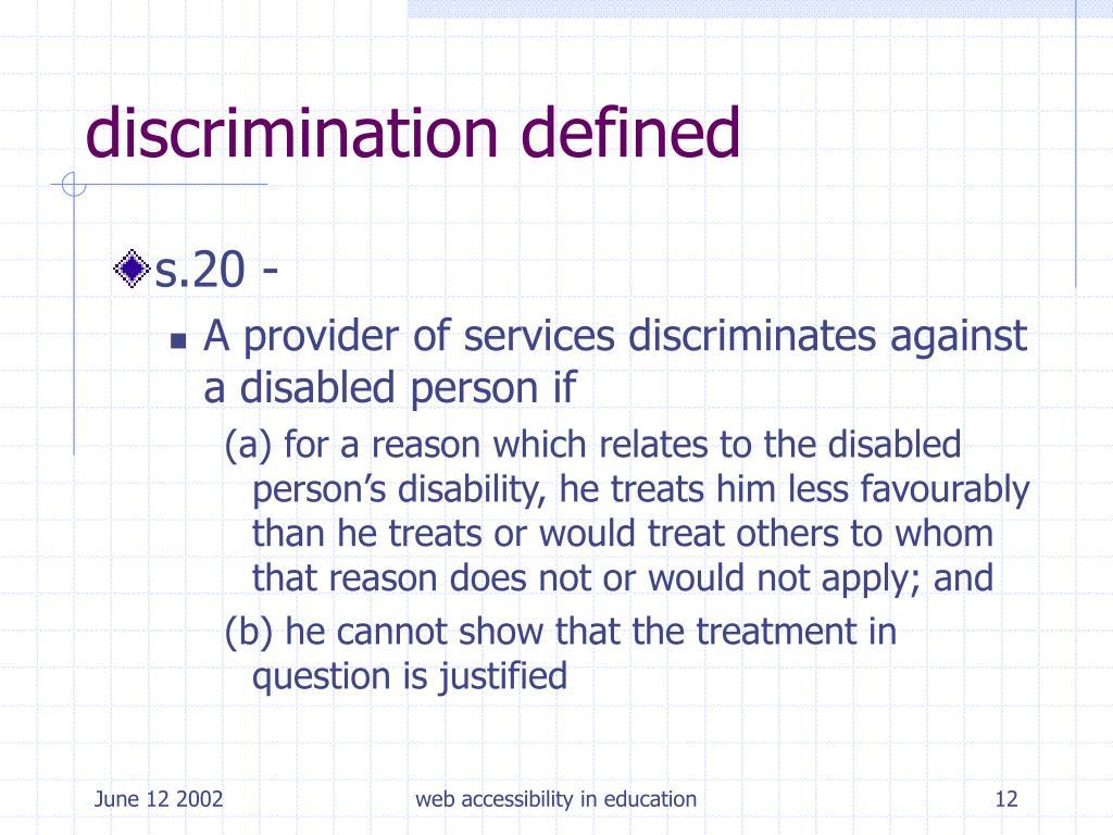 discrimination defined
