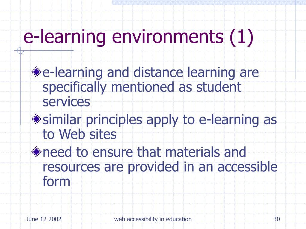 e-learning environments (1)
