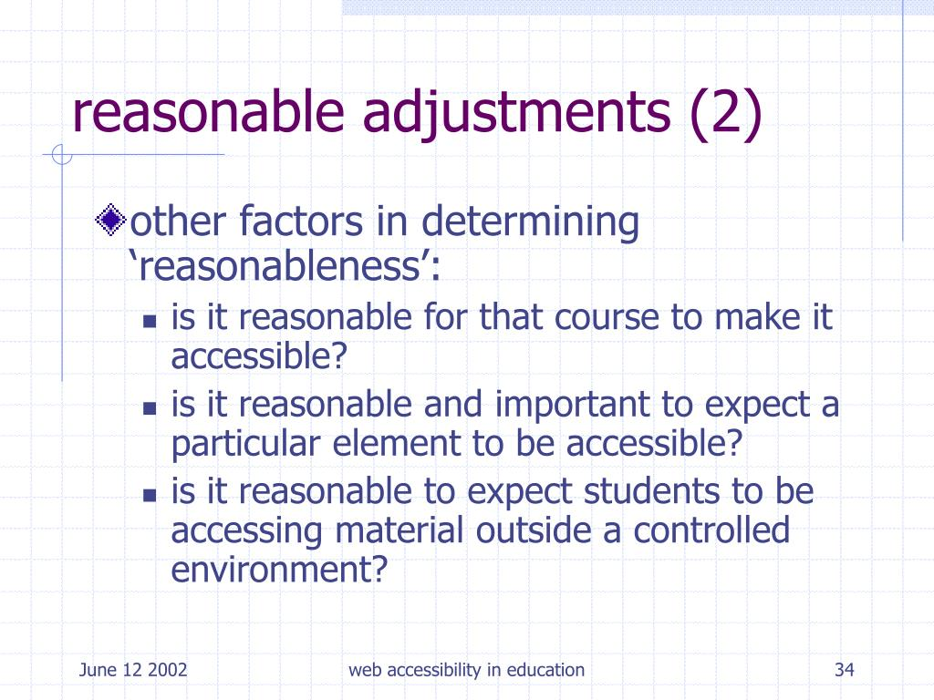 reasonable adjustments (2)