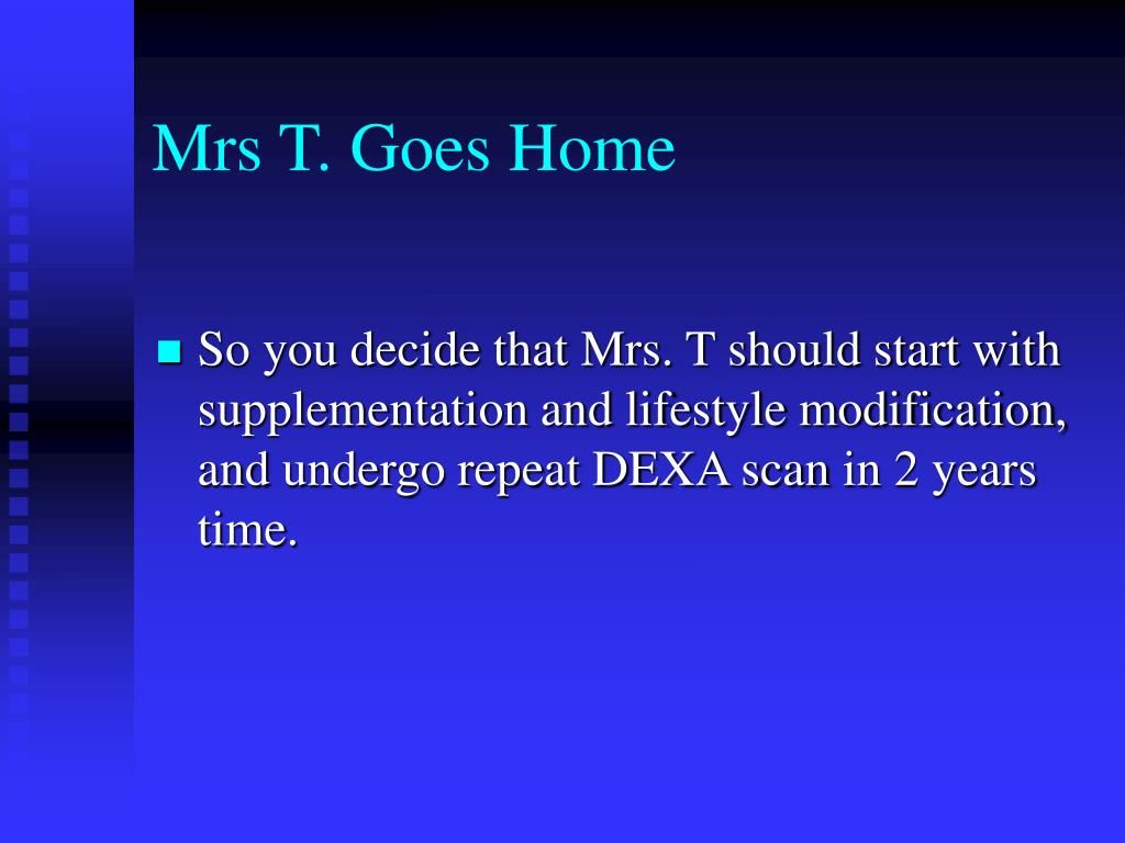 Mrs T. Goes Home