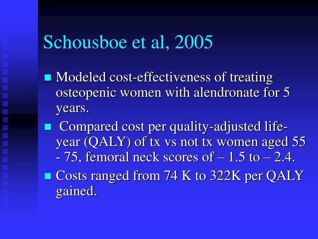 Schousboe et al, 2005