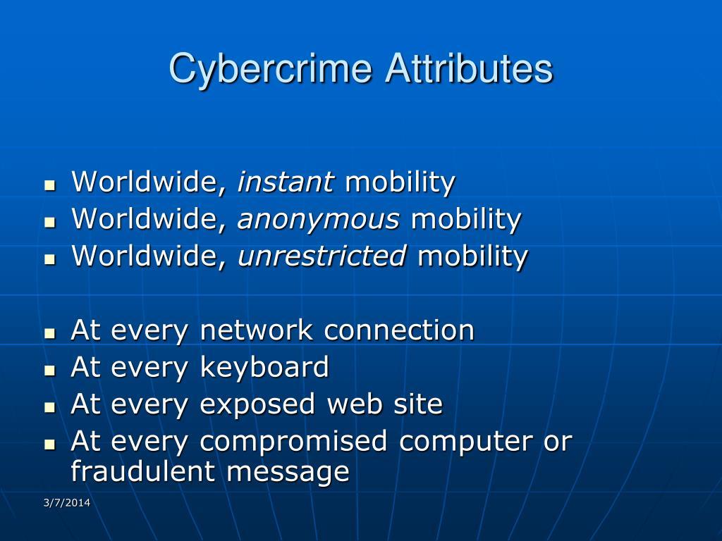 Cybercrime Attributes