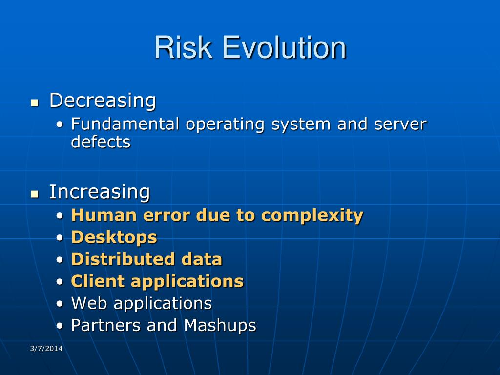 Risk Evolution