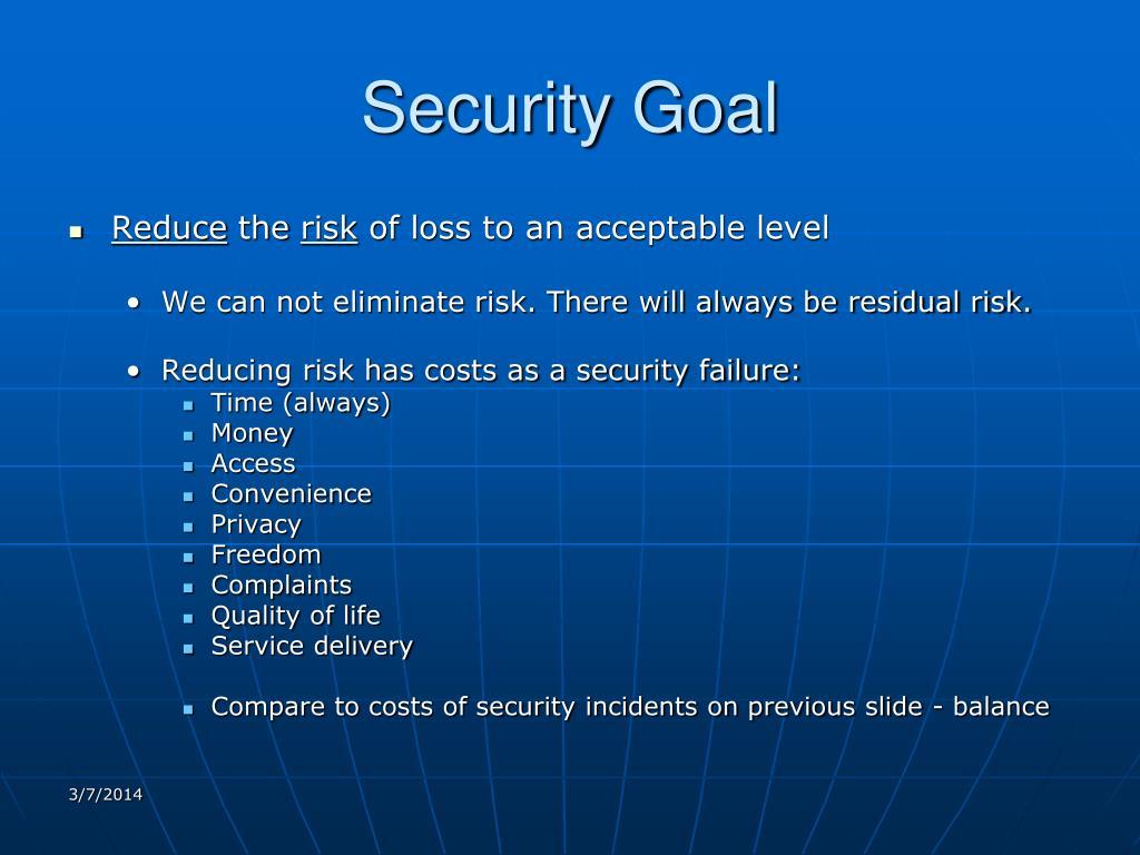 Security Goal