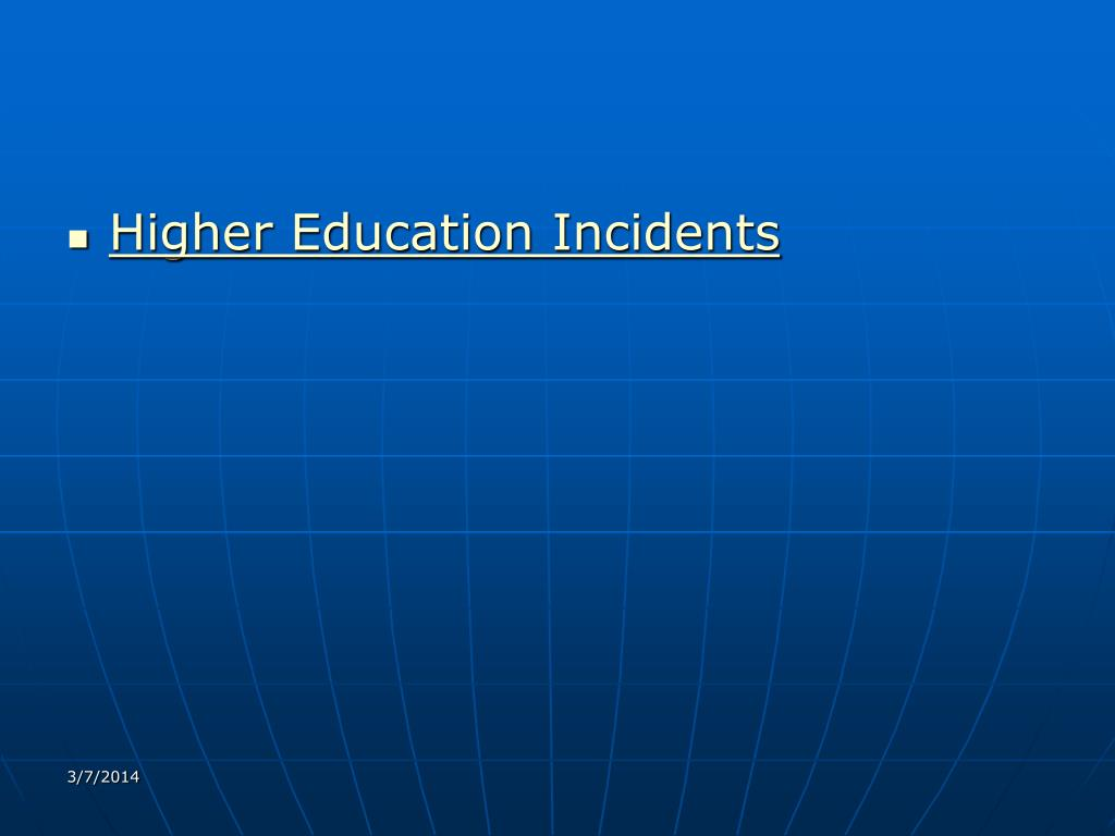 Higher Education Incidents
