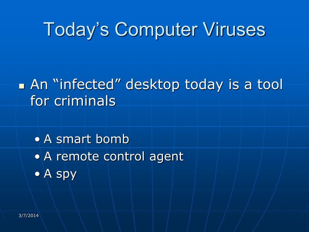 Today's Computer Viruses