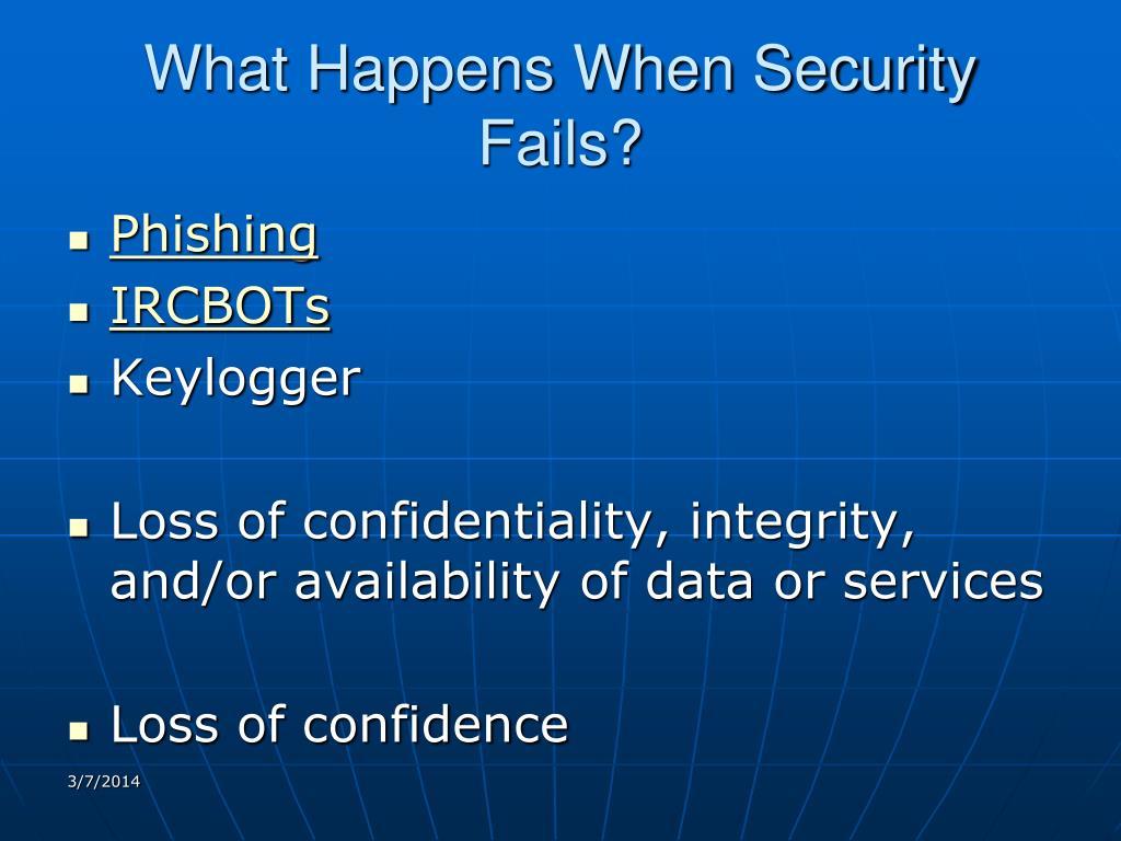 What Happens When Security Fails?