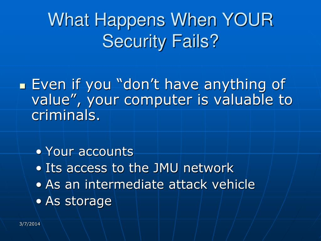 What Happens When YOUR Security Fails?